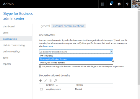 O365 Skype For Business Federation