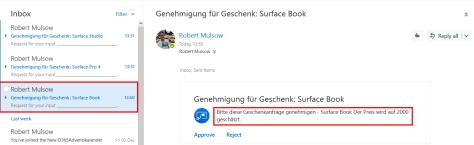 Flow Genehmigungs-Email
