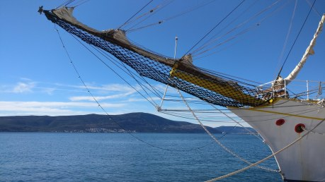 Old ship on Tivat Waterfront