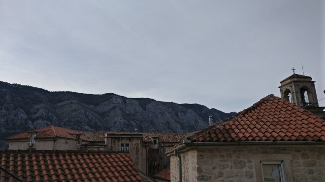 View over the rooftops of Kotor