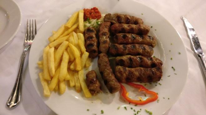 Lots of meat in Montenegro