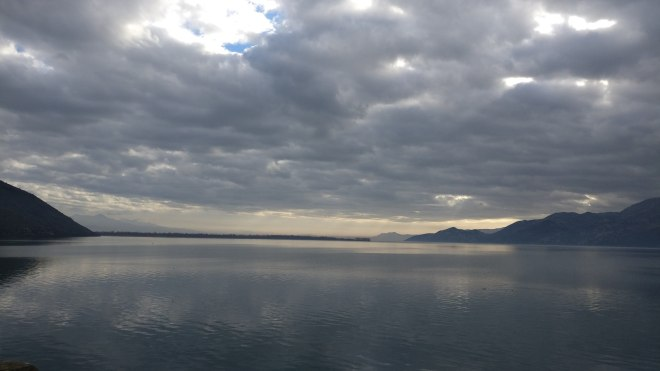Lake Skadar reaching out towards Albania