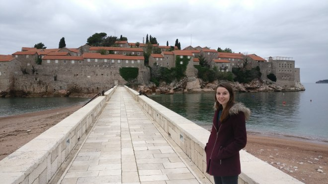 Trying to sneak onto Sveti Stefan