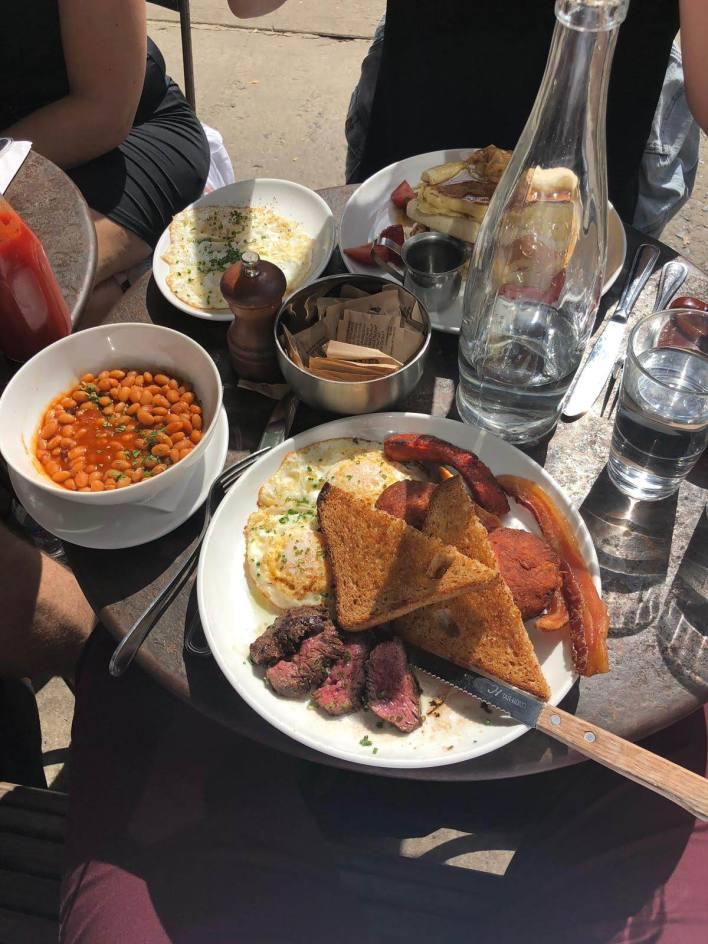 Full english with STEAK! Amazing Brunch