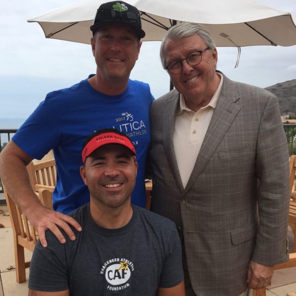 Dr. Andy Benton of Pepperdine University with Aaron and I.