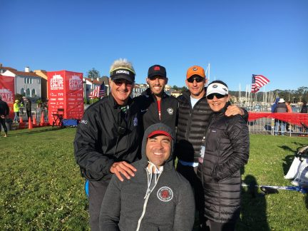 Triathlon Legend Eric Gilsenan along with myself Alan Shanken, my relay partner & his wife, Alison Cacoma. All great people!