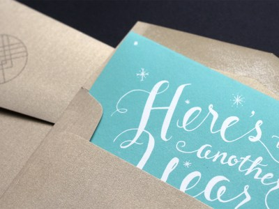Hand Lettered Holiday Card