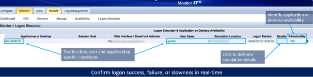 Citrix logon Simulator