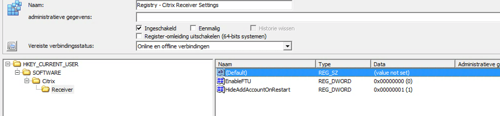 Get that Citrix Receiver an account is not configured pop-up of my
