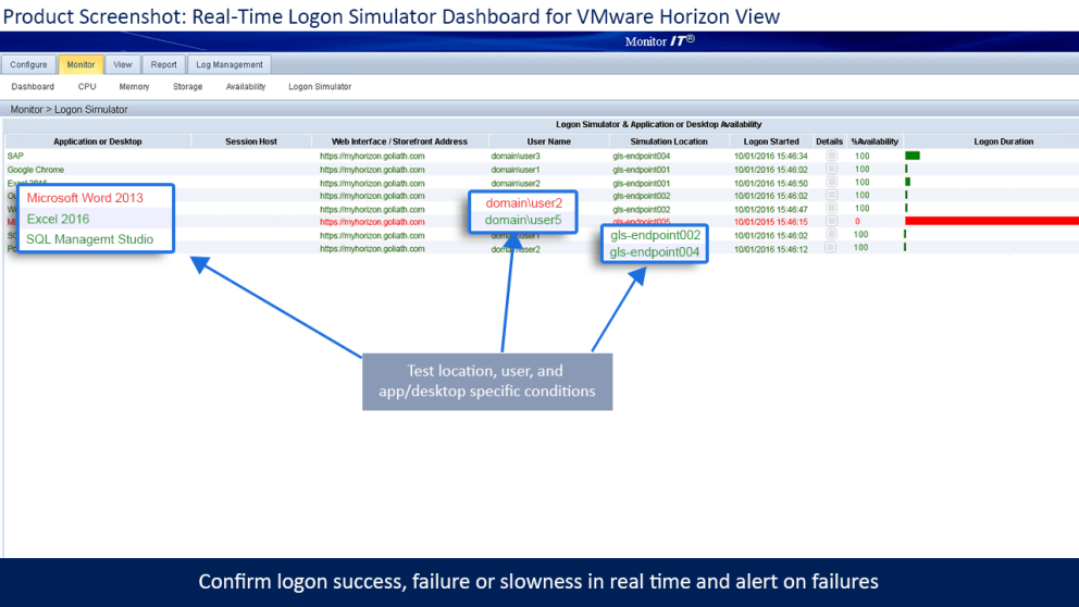 VMware Logon Simulator