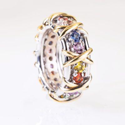 Bicolour sapphire ring