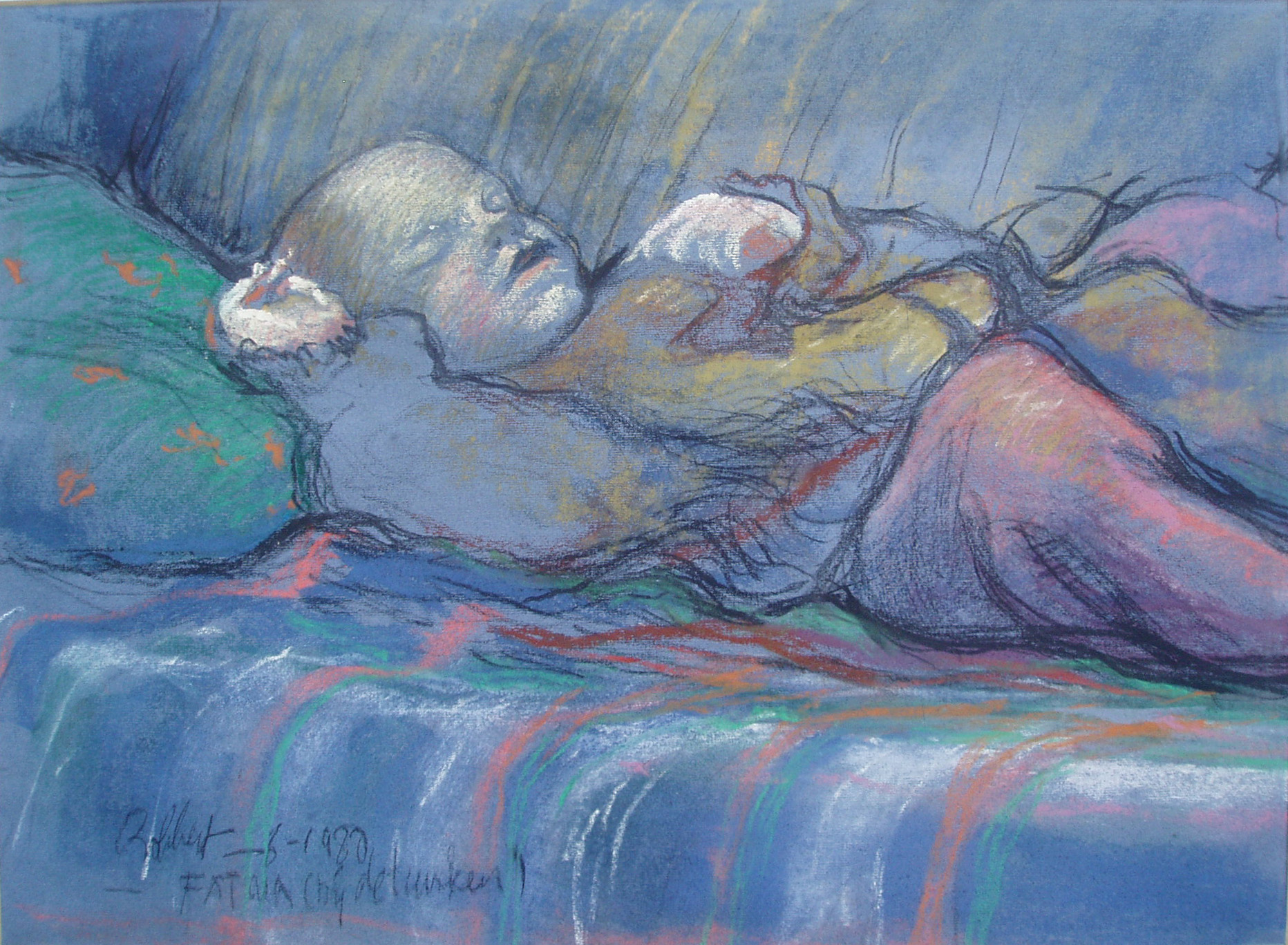 Robbert Ruigrok,'Fatima, Turkish Child', 1980. Pastel.