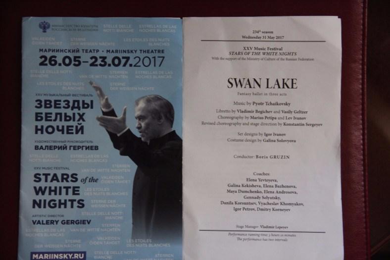 Swan Lake Programme