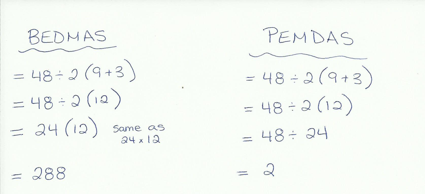 Acronym For Algebra Order Of Operations