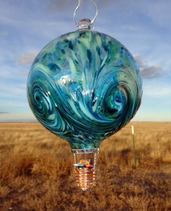 Glass Hot Air Balloon Robbins Ranch Art