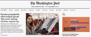 Fake news influence reported in the Washington Post