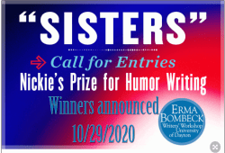 Nickie's prize for humor writing call for entry and winners annouced date