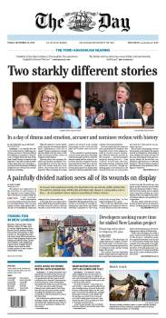The Day - Friday's front page: #KavanaughHearings