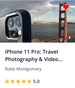 iPhone Travel video course - master the art of storytelling