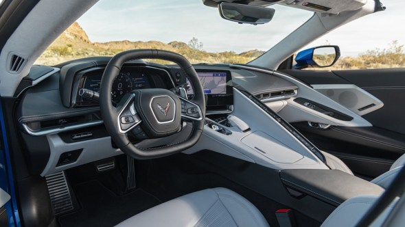 Inside the C8 Corvette