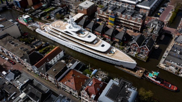 Superyachts are often transported by canal, river and road to reach their final destinations.