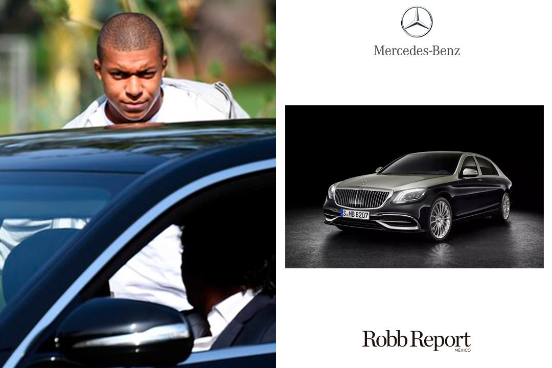 03 Mercedes - Estas son las marcas favoritas de lujo del próximo Messi, el francés Kylian Mbappé