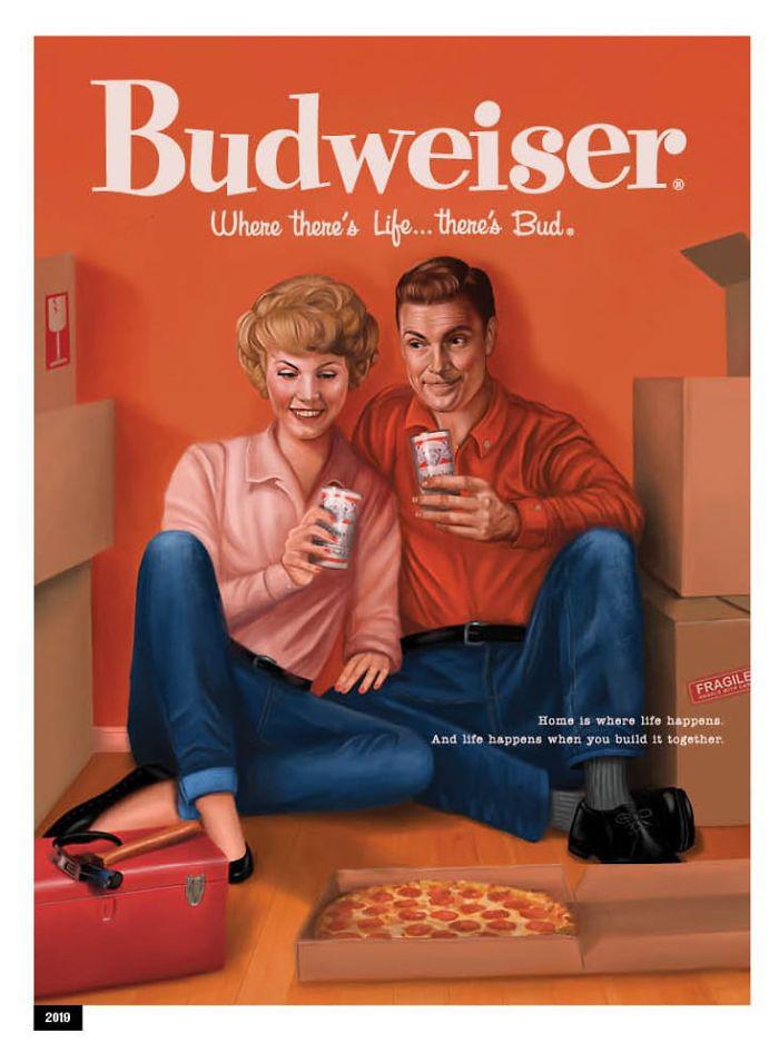 anuncio 2 1 - Budweiser cambia publicidad sexista de los 50´s y la adapta para millennials