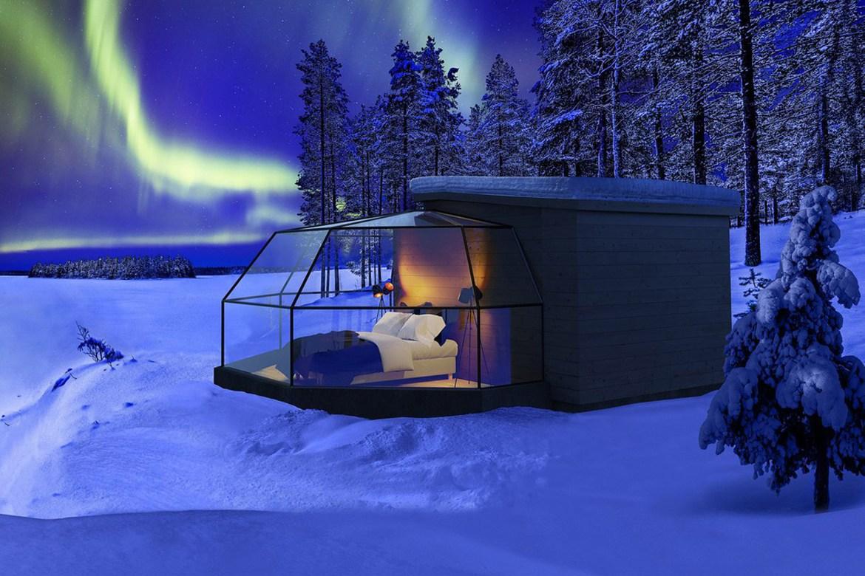 arctic fox igloos 1 - Este hotel te permite apreciar la aurora boreal desde la comodidad de tu cama