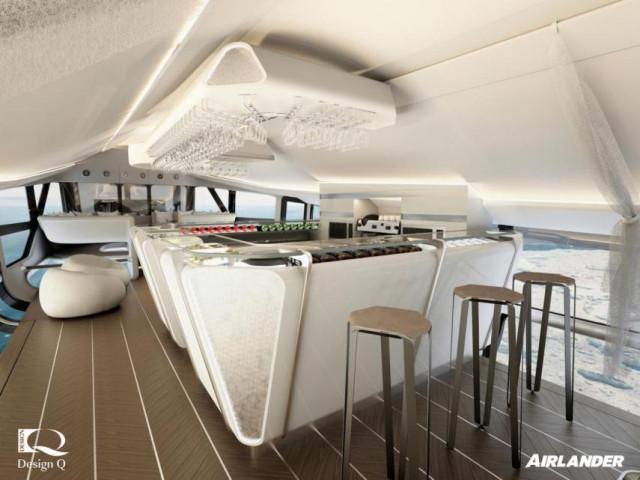 cocina 1 - Airlander 10, la nueva aeronave de ultralujo con la que le darás un descanso a tu jet