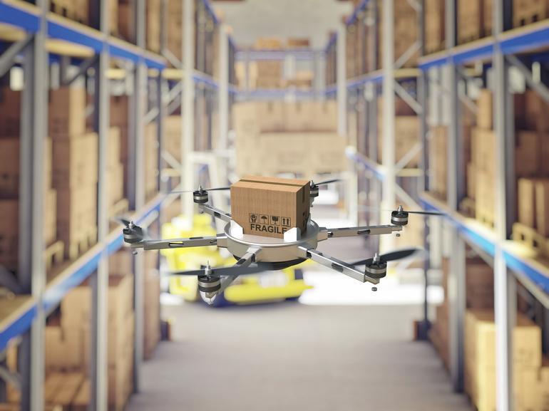 """drone warehouse - Los nuevos repartidores de Walmart te entregarán tus compras """"de volada"""""""