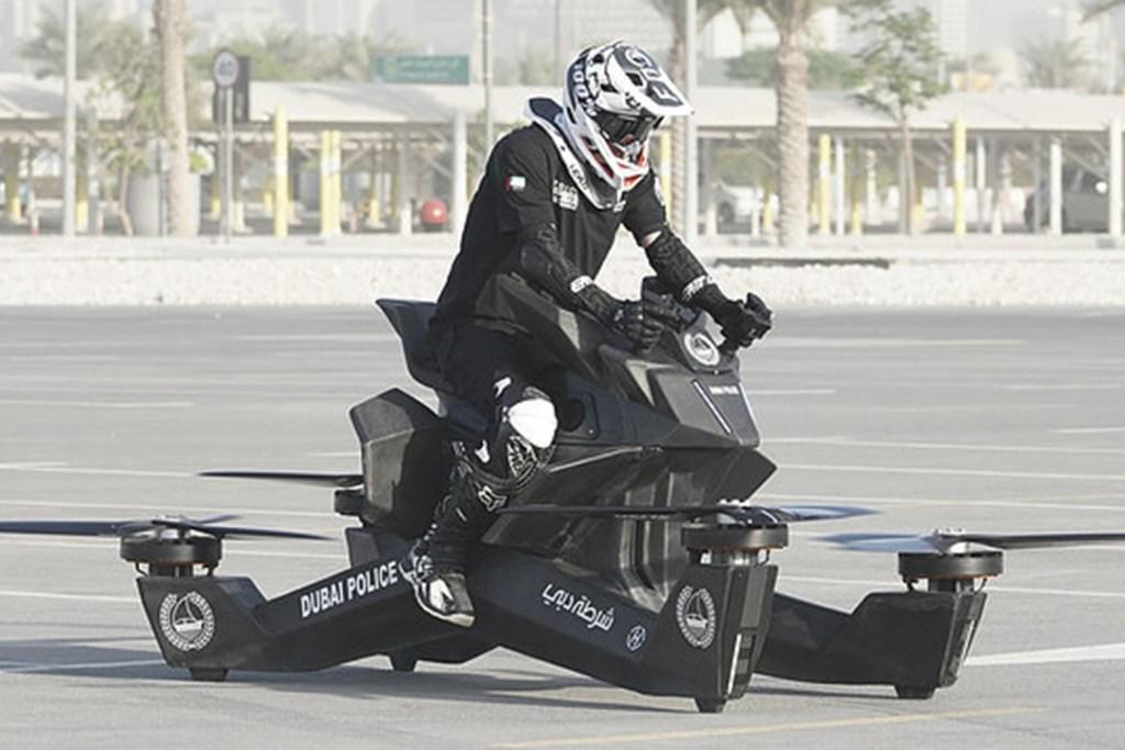En Dubái los policías tienen una flota de motos voladoras