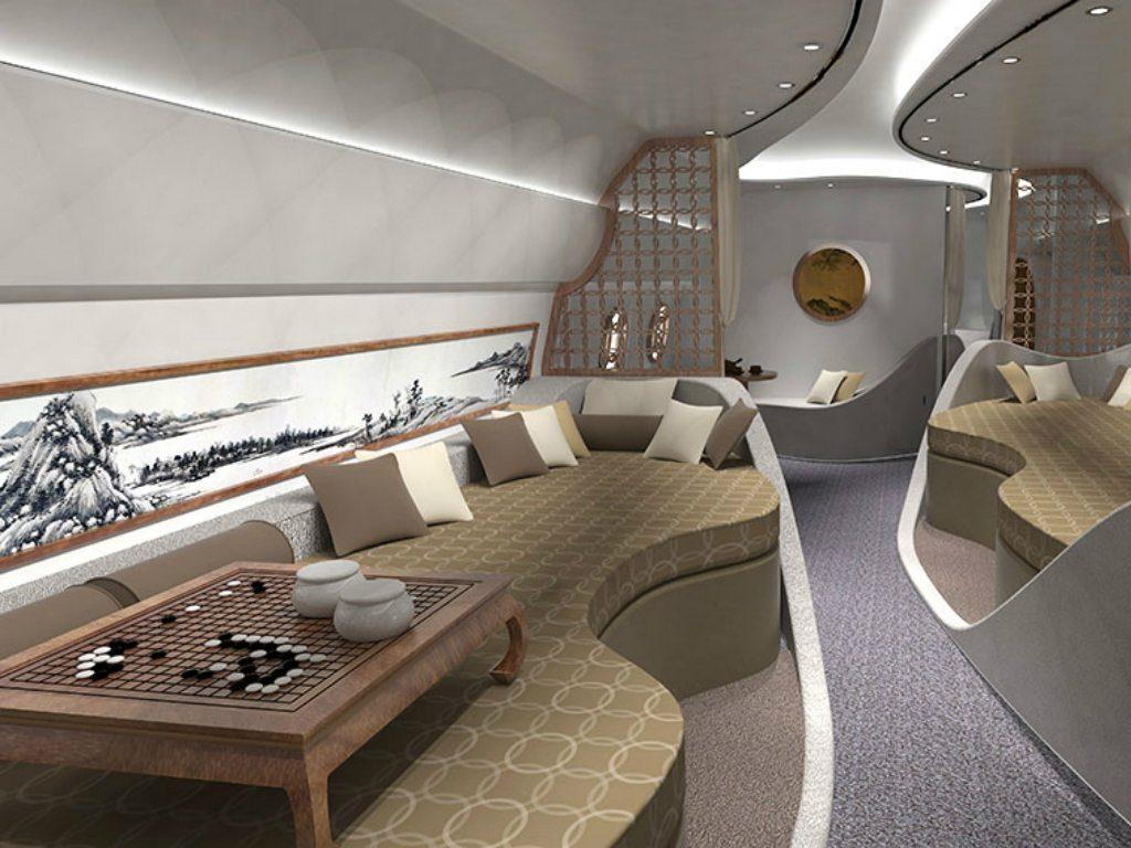 Un avión privado con Feng Shui