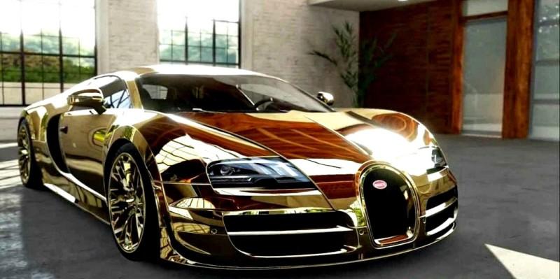 Flo Rida Gold Chrome Bugatti 800x399 - Nunca creerás que estos excéntricos vehículos de celebridades existan