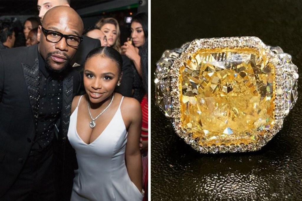 Así es el anillo de 30 quilates que Floyd Mayweather le regaló a su hija