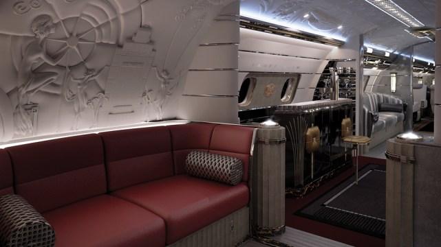 hollywood airship - Quédate sin aliento con los interiores personalizados de estos jets privados