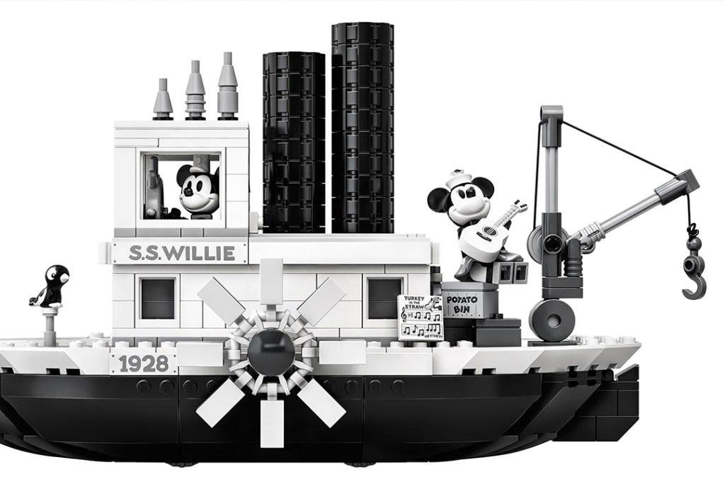 Podrás construir el famoso Steamboat Willie de Mickey Mouse con LEGO