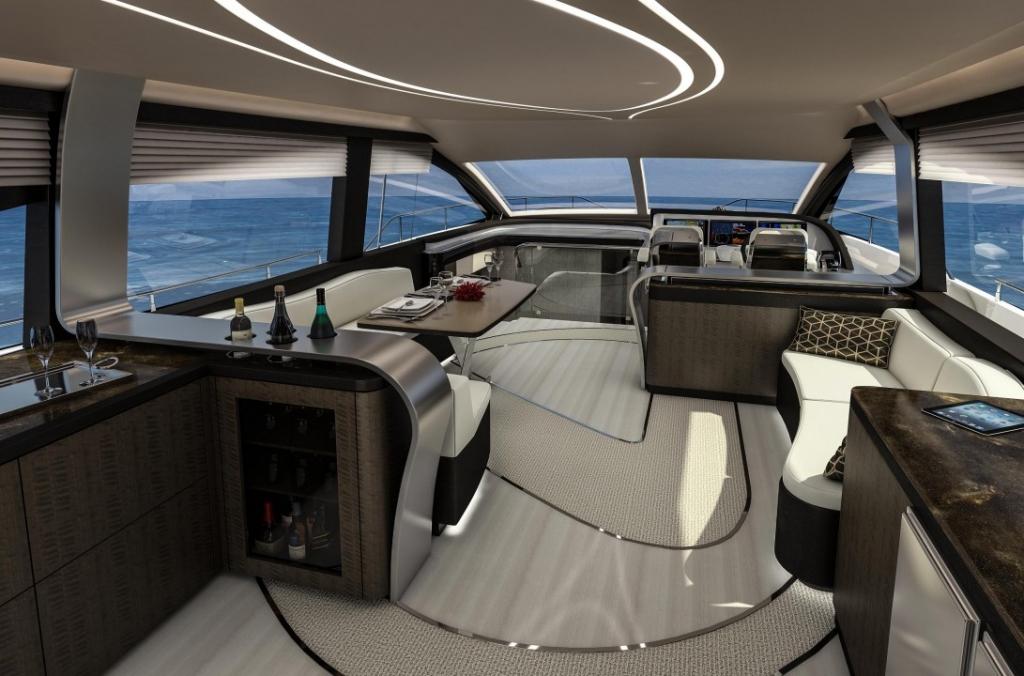 lexus ml salon 2 dark 1024x676 - Conquista los siete mares con LY 650, el nuevo yate de Lexus