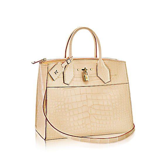 louis vuitton city steamer mm crocodile mat fashion show selection N92427 PM2 Front view - El bolso de piel más costoso de Louis Vuitton