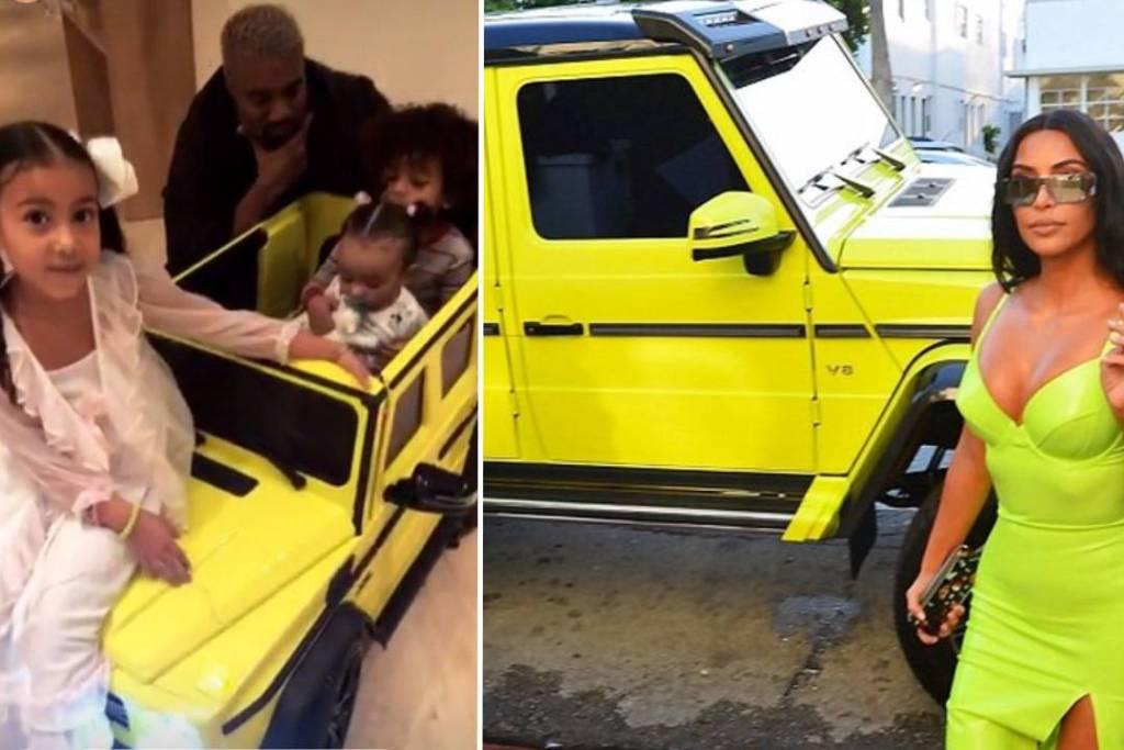 La bebé de Kim Kardashian ya tiene un Mercedes G550 que hace juego con el de su mamá