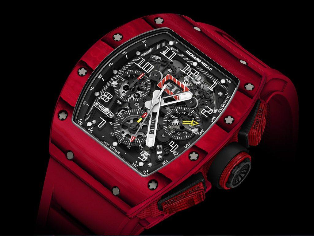 Richard Mille rompre esquemas de alta relojería con su RM 011 Red TPT Quartz