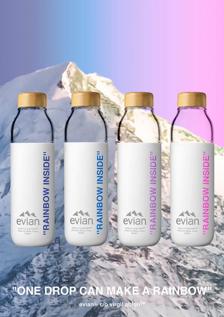 virgil abloh x evian x soma refillable water bottle 2 - 'Rainbow Inside' la nueva forma de tomar agua embotellada
