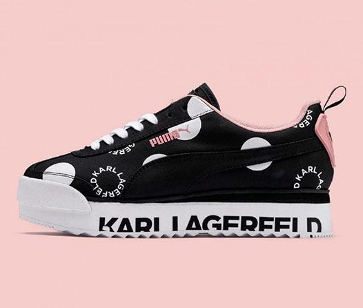 La sofisticación de Karl Lagerfeld en unos sneakers de Puma