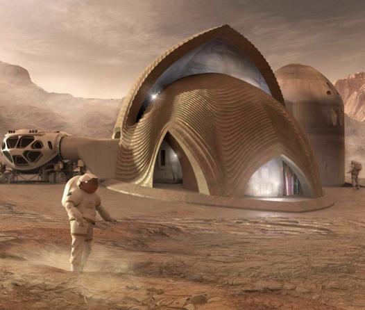Preparándonos para dejar el planeta, así podrían ser las casas en Marte
