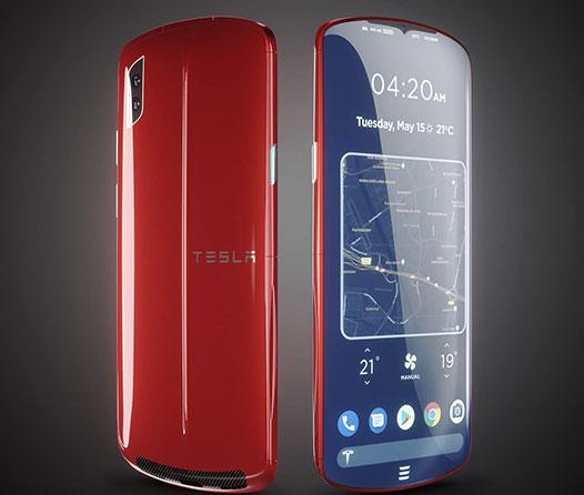 Este smartphone basado en Tesla es lo más bonito que hemos visto