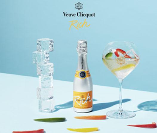 Crea deliciosos cócteles con el nuevo champagne «Petite Rich» de Veuve Clicquot