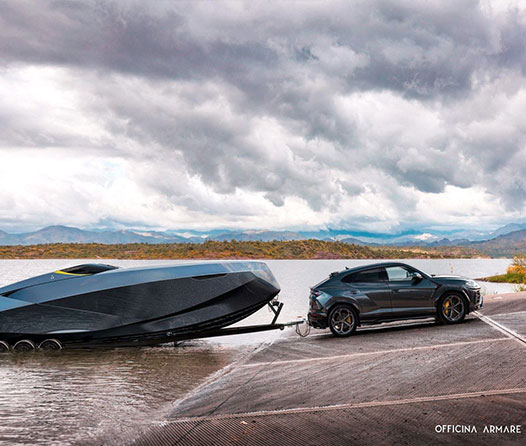 A43, una lancha motora de lujo inspirada en un Lamborghini