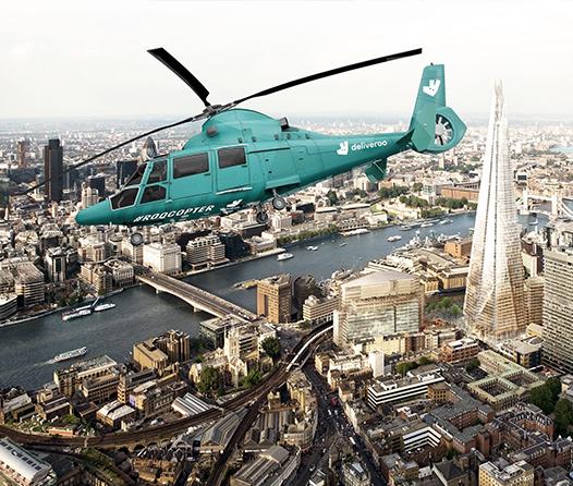El primer restaurante helicóptero del mundo tendrá un preview en Londres