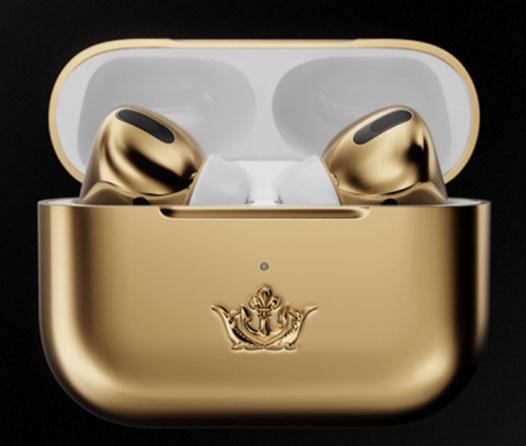 Alguien compró estos AirPods bañados en oro (y no creerás su precio)