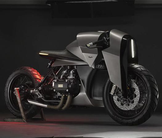 Esta antigua Honda Gold Wing ahora será una temida motocicleta samurai