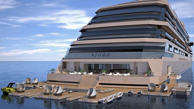 ¿Soñabas con apartamentos flotantes? Este condominio de lujo está en altamar